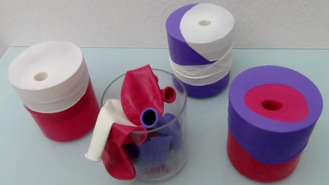 RecicladoCreativo.com Recycling with balloons. Recliclando con globos