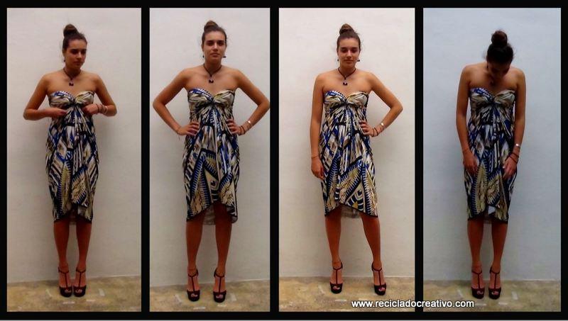Cómo realizar un elegante vestido sin dar una sola puntada - stitch free dress