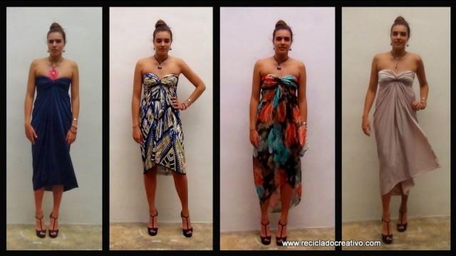 c052228921 Cómo realizar un elegante vestido sin dar una sola puntada - stitch free  dress
