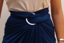 Cómo hacer una falda de moda sin coser - How to make a skirt stitch free
